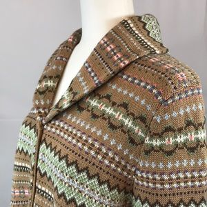 Denim&Co Sweaters - Denim & Co- Fair Isle knit cardigan sweater size L